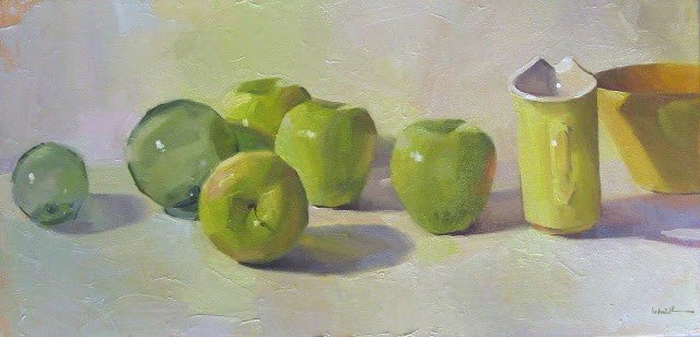 """Golden Delicious"" original fine art by Sarah Sedwick"
