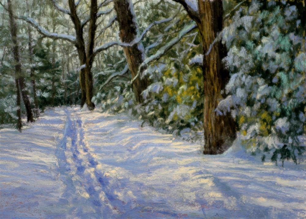"""Trail to Bohn Lake"" original fine art by Susan Klabak"