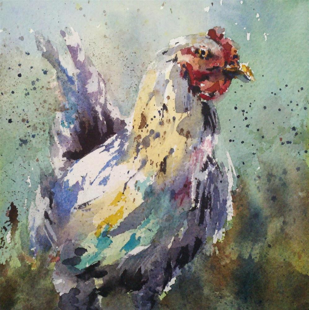 """Whatcha Lookin At?"" original fine art by Julie Hill"