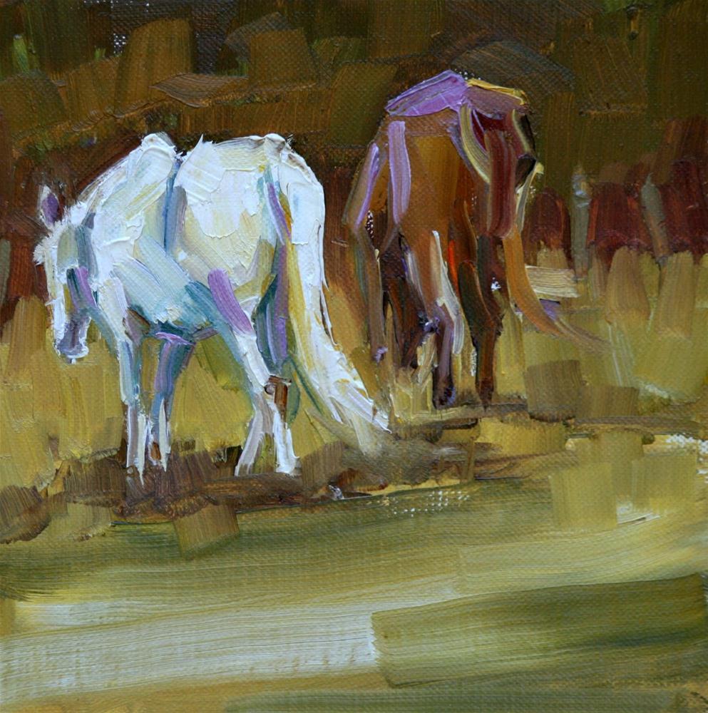 """pasturing"" original fine art by Carol Carmichael"