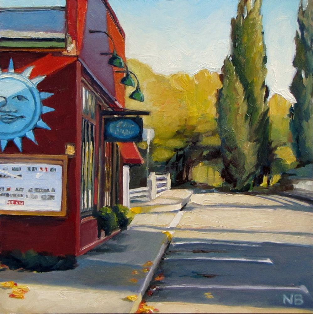 """Bridge to the Park"" original fine art by Nora Bergman"