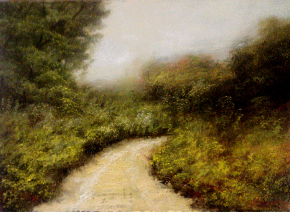 """Hidden Desert Road"" original fine art by Bob Kimball"