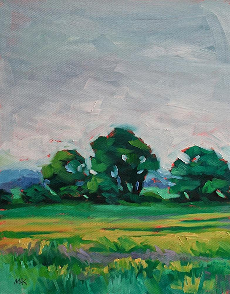"""Upper Field"" original fine art by Mary Anne Cary"
