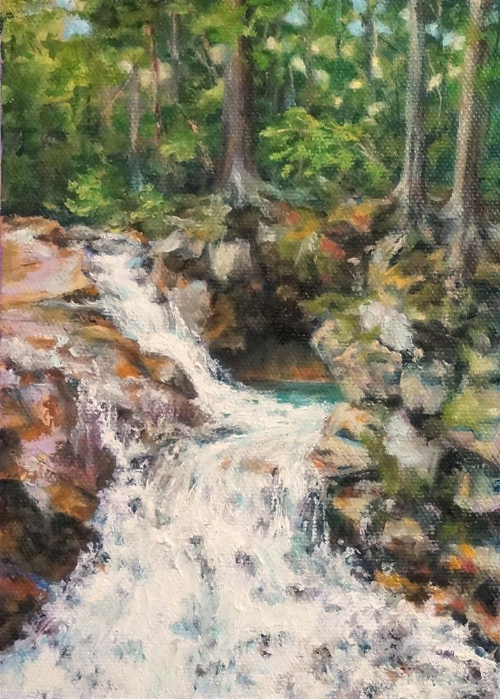 """Resting River Pool"" original fine art by Maria Levandowski"