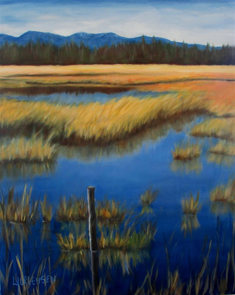 """30 x 24 inch oil Hamilton Marsh"" original fine art by Linda Yurgensen"