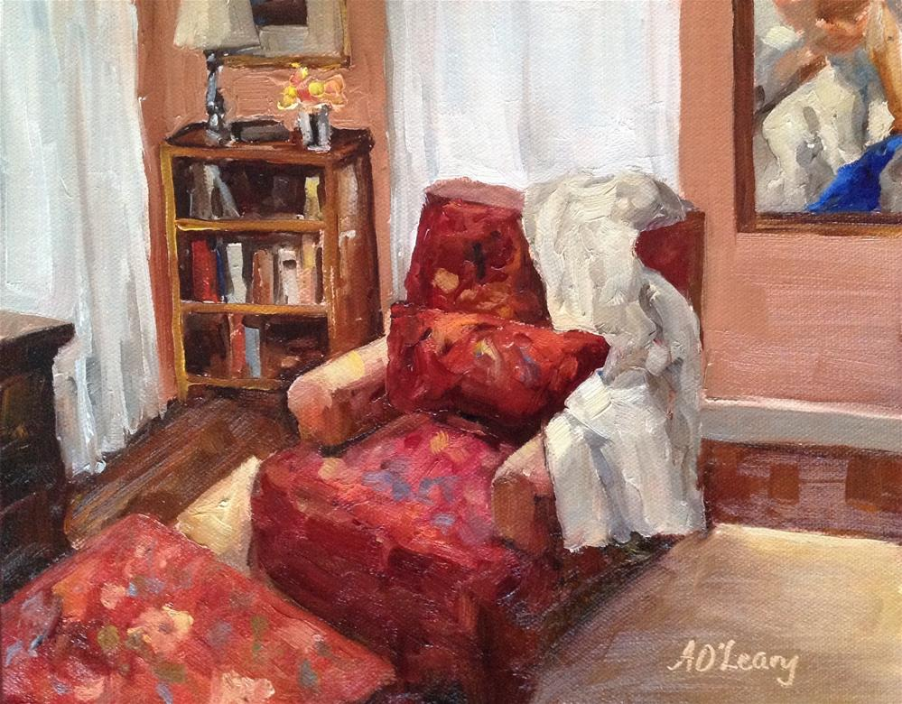 """Reading Corner"" original fine art by Alice O'Leary"