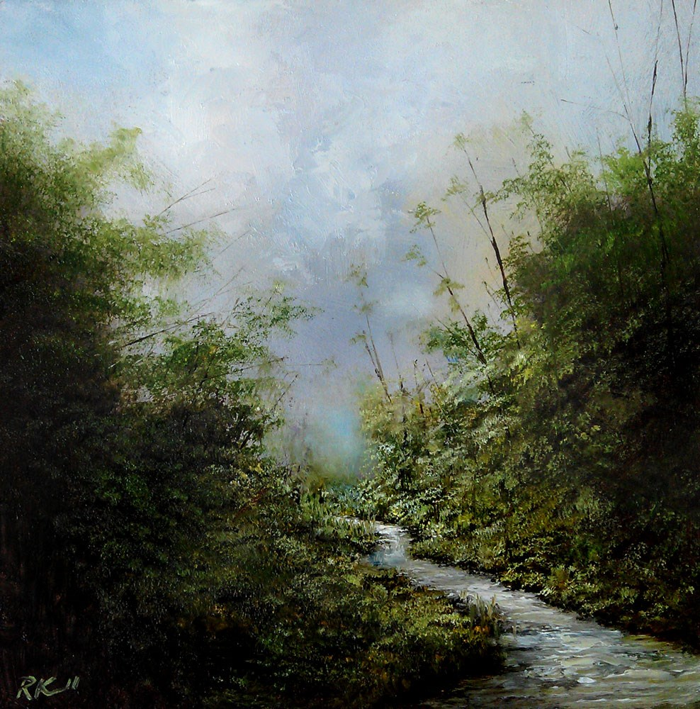 """Mountain Stream"" original fine art by Bob Kimball"