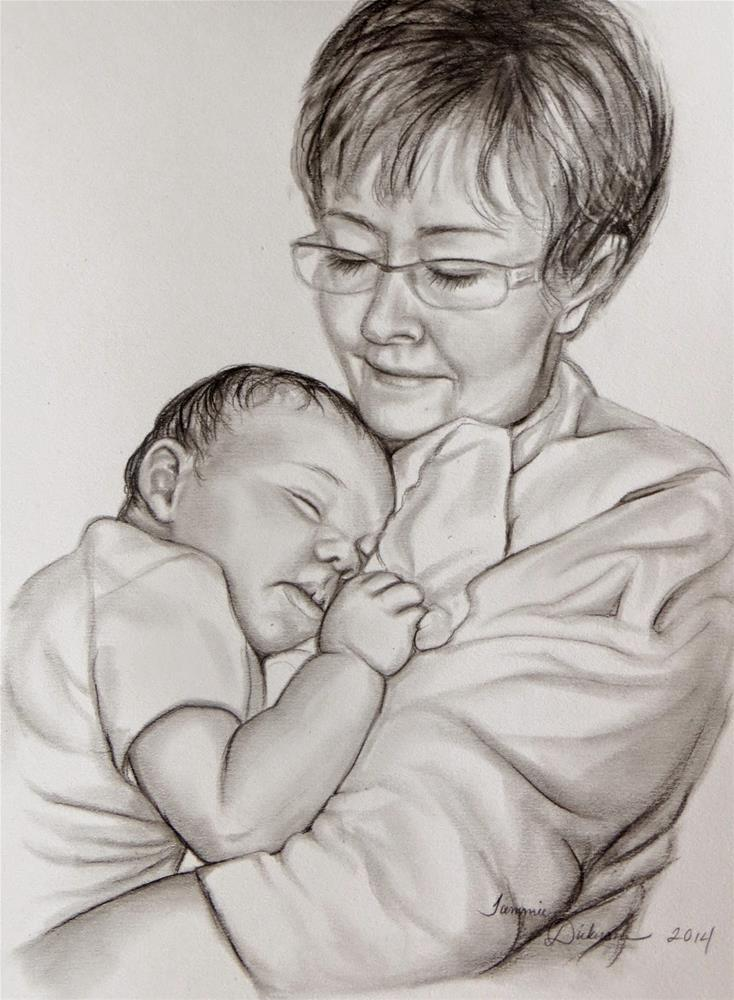 """Saundra and Grandbaby"" original fine art by Tammie Dickerson"