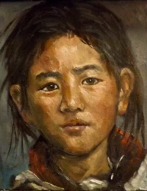 """TIBET4"" original fine art by Run-      Zhang Zane"