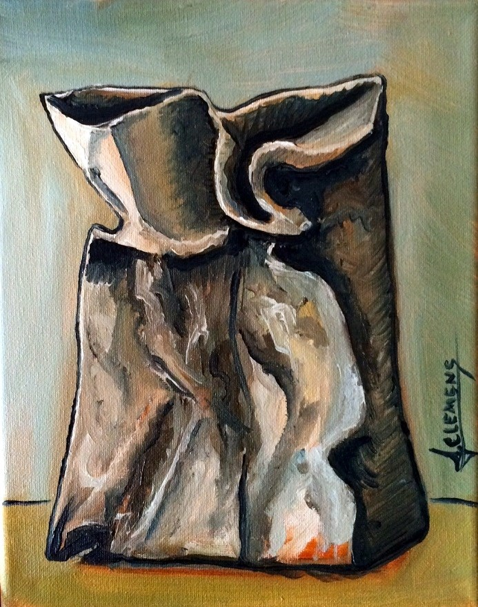 """paper bag"" original fine art by Jolynn Clemens"