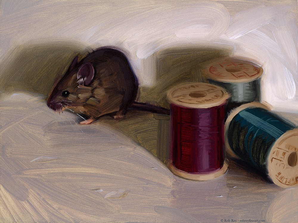 """House Mouse"" original fine art by Rob  Rey"