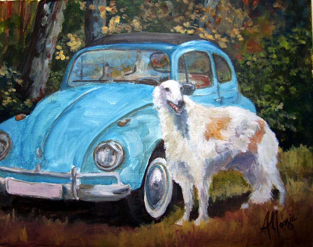 """Waiting for a Ride"" original fine art by Andrea Morris"