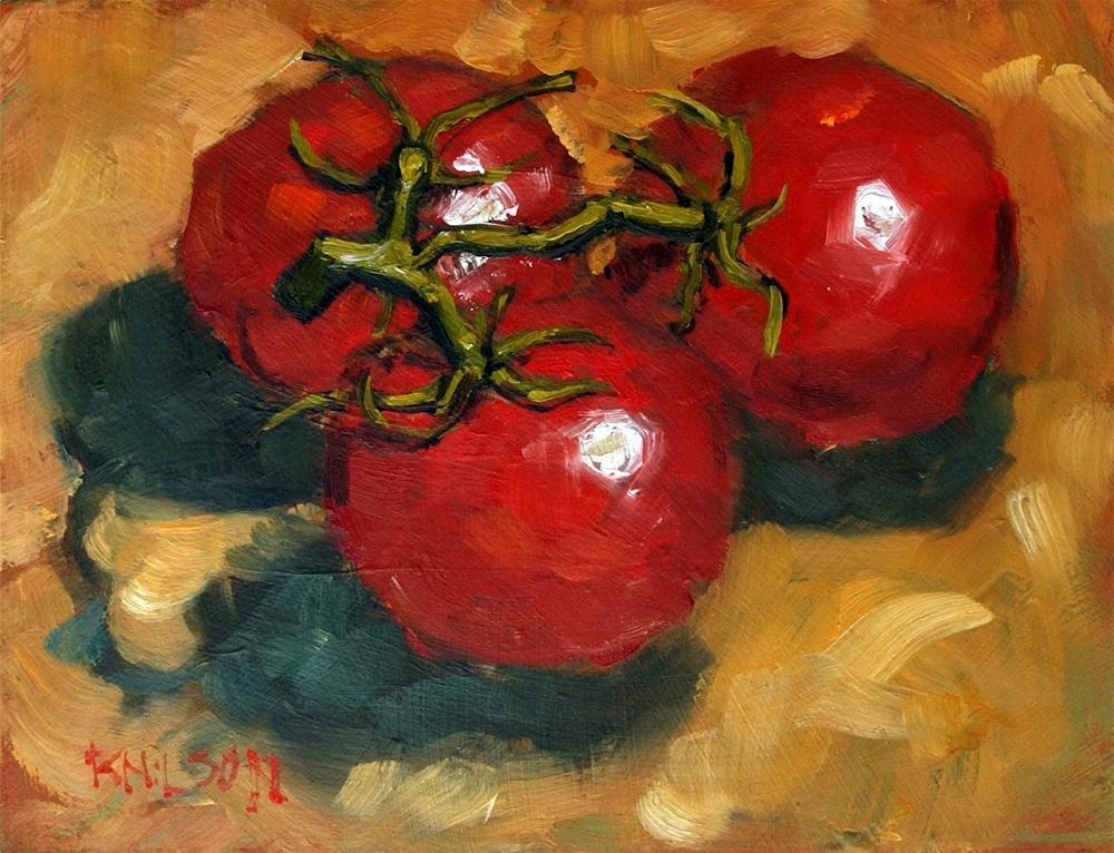 """Fiercely Tomato"" original fine art by Rick Nilson"