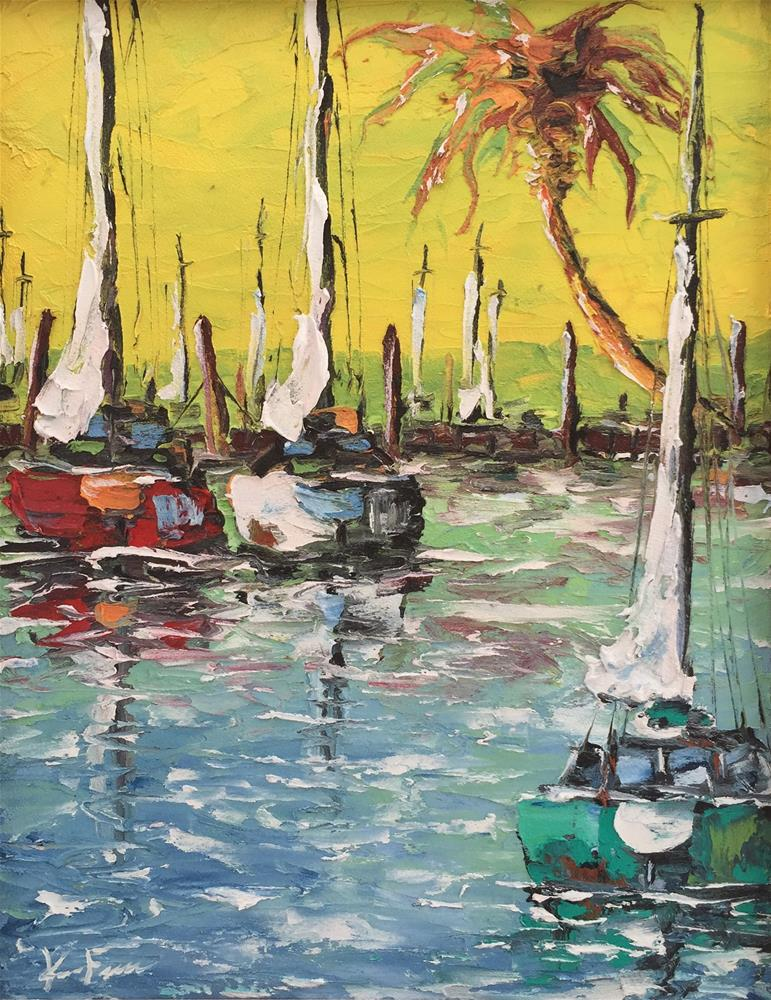 """Mooring Dock"" original fine art by Ken Fraser"