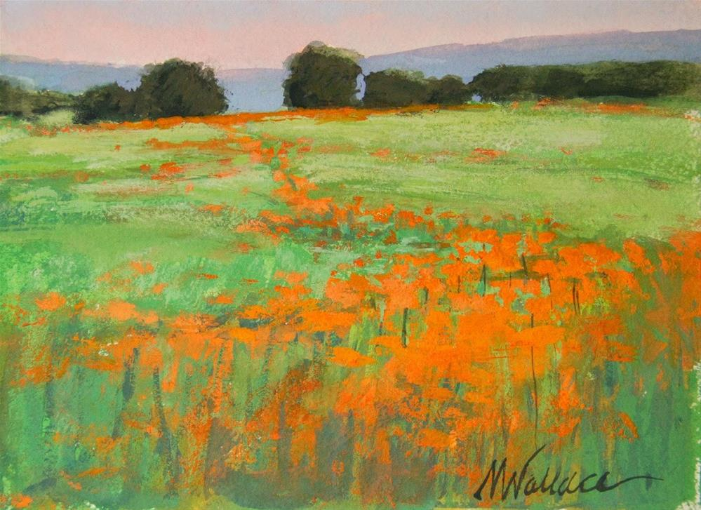 """#47 Poppy path"" original fine art by Nancy Wallace"