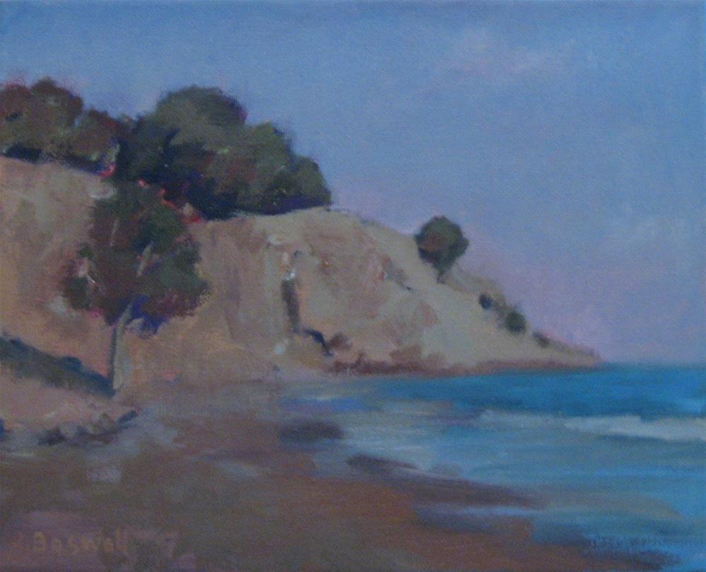 """Summerland Beach Series 7"" original fine art by Jennifer Boswell"