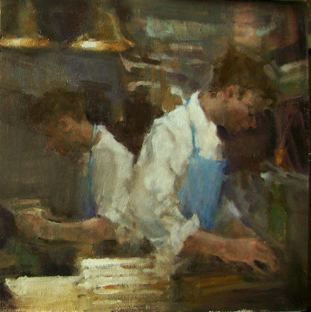 """Galley Kitchen"" original fine art by Kim Roberti"