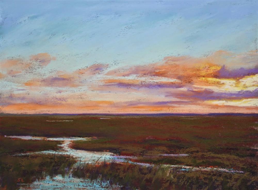 """Marsh-Mellow"" original fine art by Sharon Lewis"
