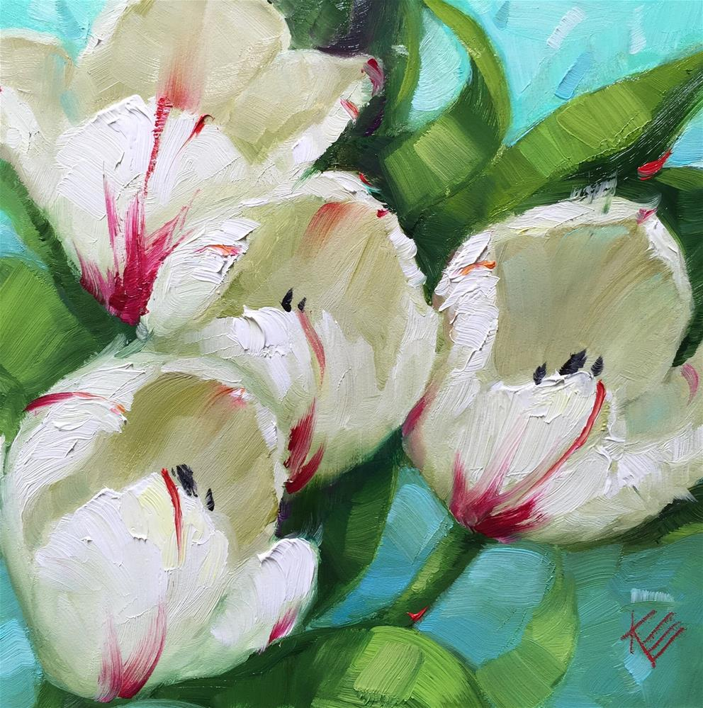 """Flaming Tulips"" original fine art by Krista Eaton"