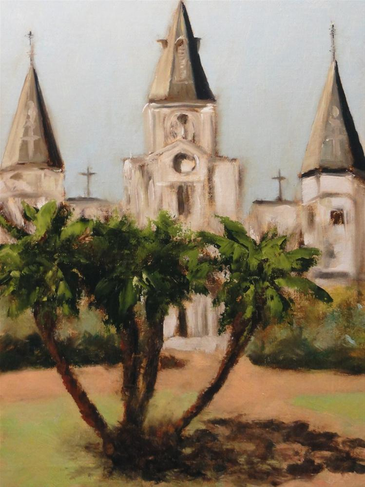"""Fat Tuesday New Orleans Saint Louis Cathedral"" original fine art by Dalan Wells"