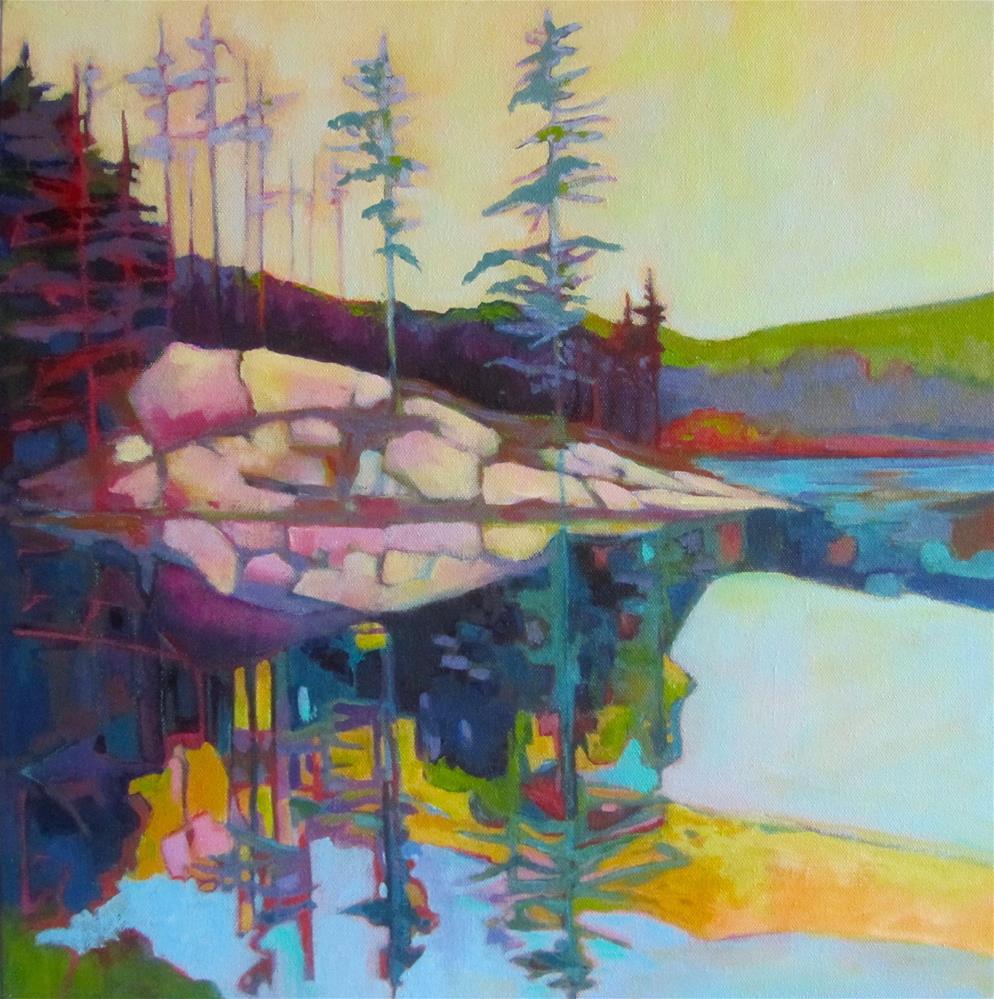 """Lake Reflections"" original fine art by Patricia MacDonald"