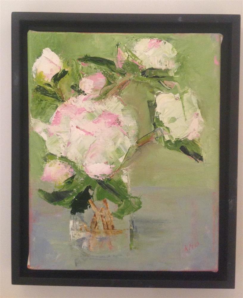 """Peony 3"" original fine art by Karen Pinard"