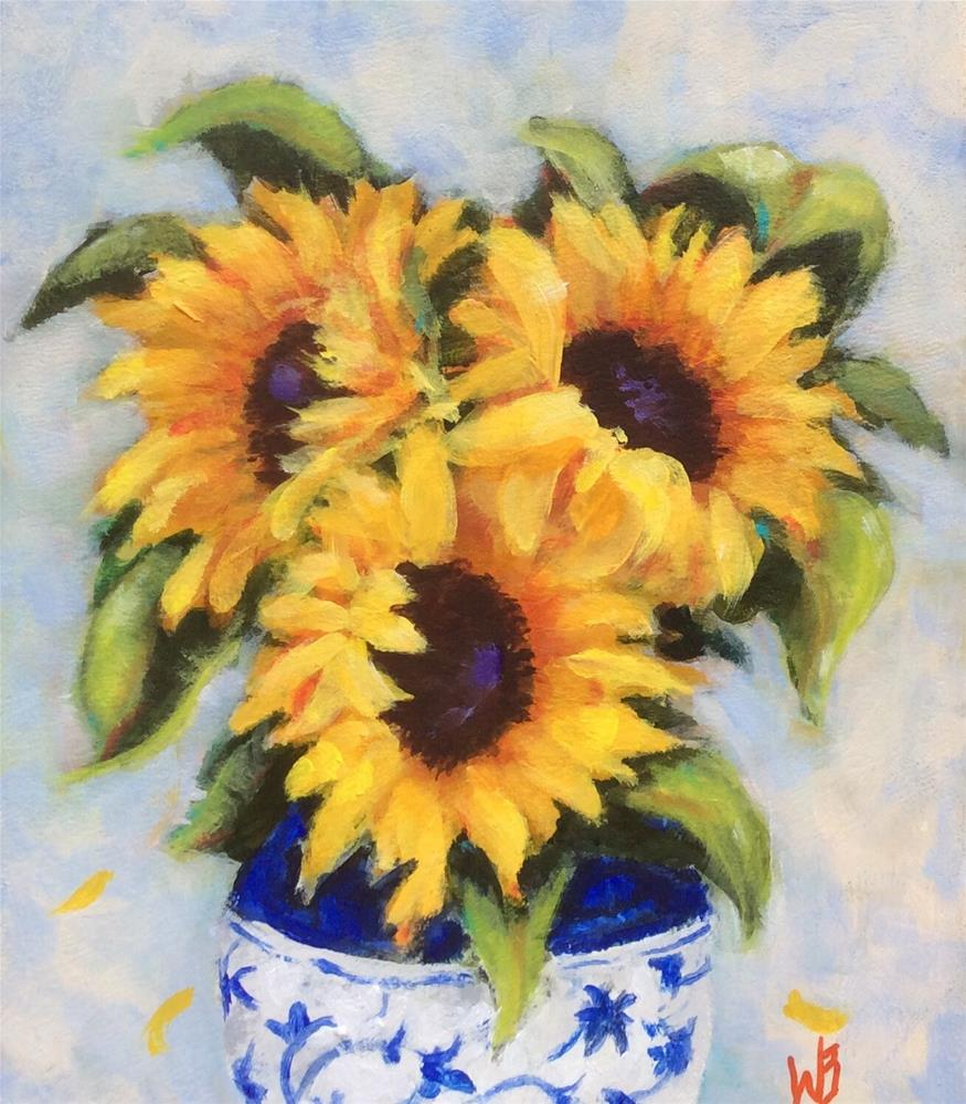 """Delightful"" original fine art by wendy black"