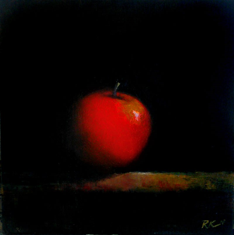 """Red Apple"" original fine art by Bob Kimball"
