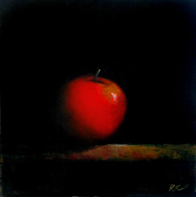 """Red Apple"" original fine art by Bob Kimball"