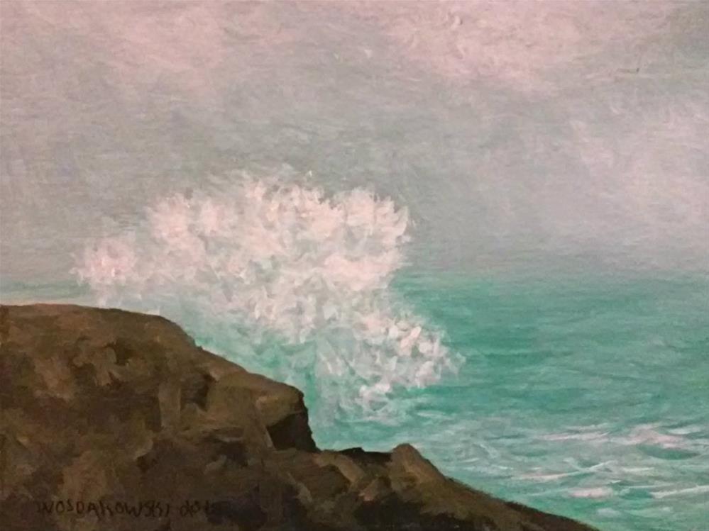 """Coastal Maine #6"" original fine art by Joe Wojdakowski"