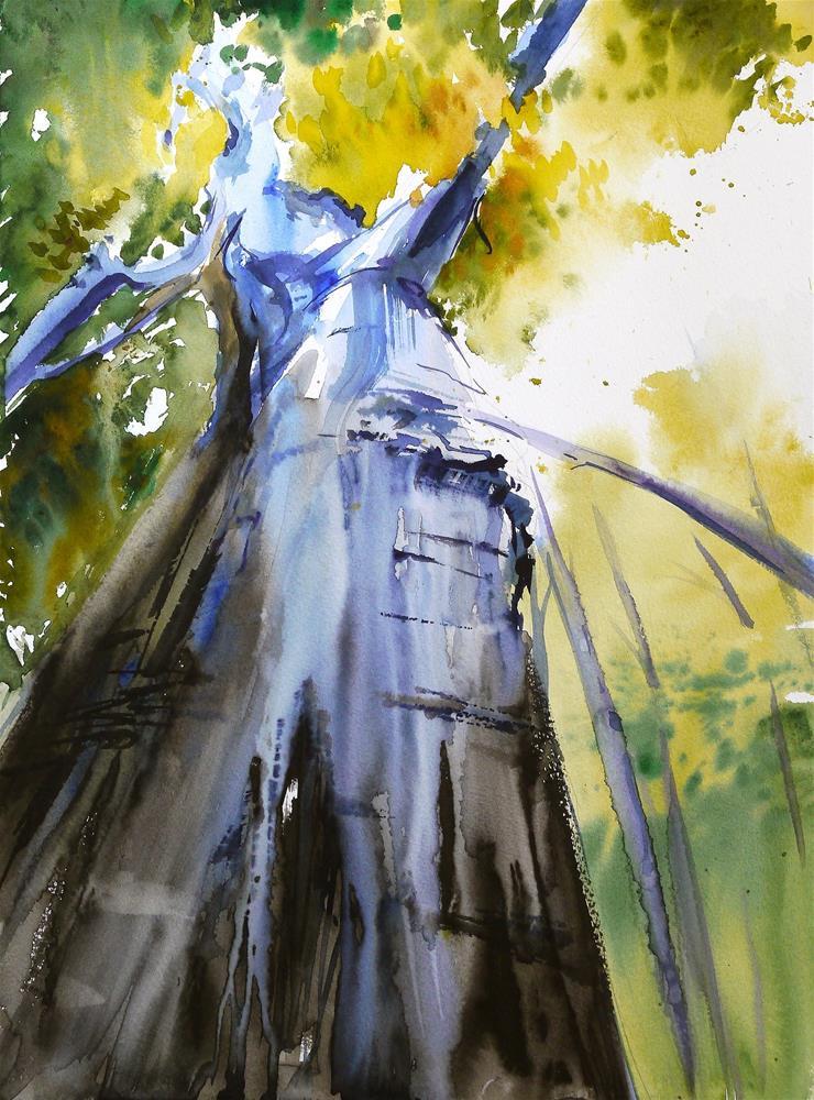 """big soppy tree"" original fine art by Beata Musial-Tomaszewska"
