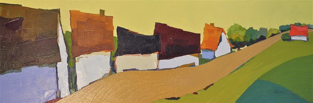 """""""Close Knit Town"""" original fine art by Donna Walker"""