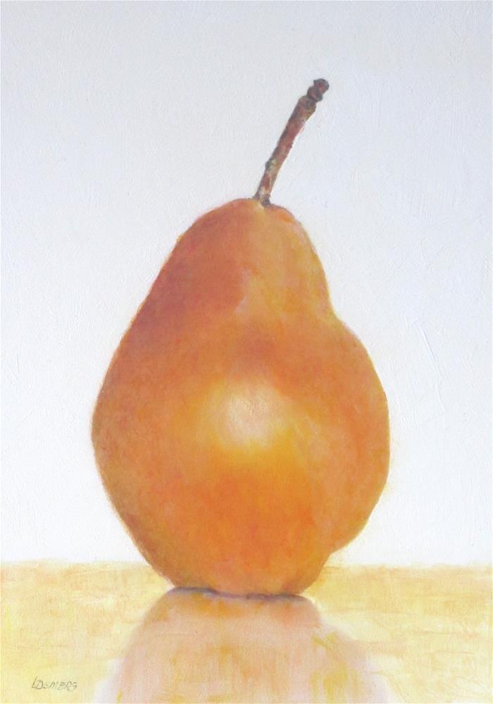 """Red Bartlett Pear"" original fine art by Linda Demers"