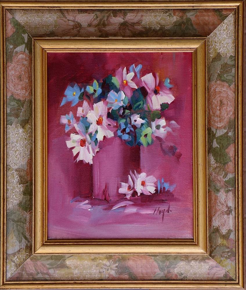 """Green Flower"" original fine art by Diane Lloyd"