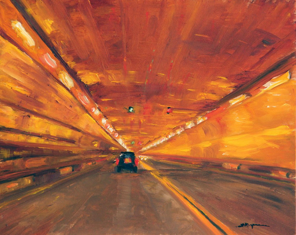 """Holland Tunnel Glow"" original fine art by Shelley Koopmann"