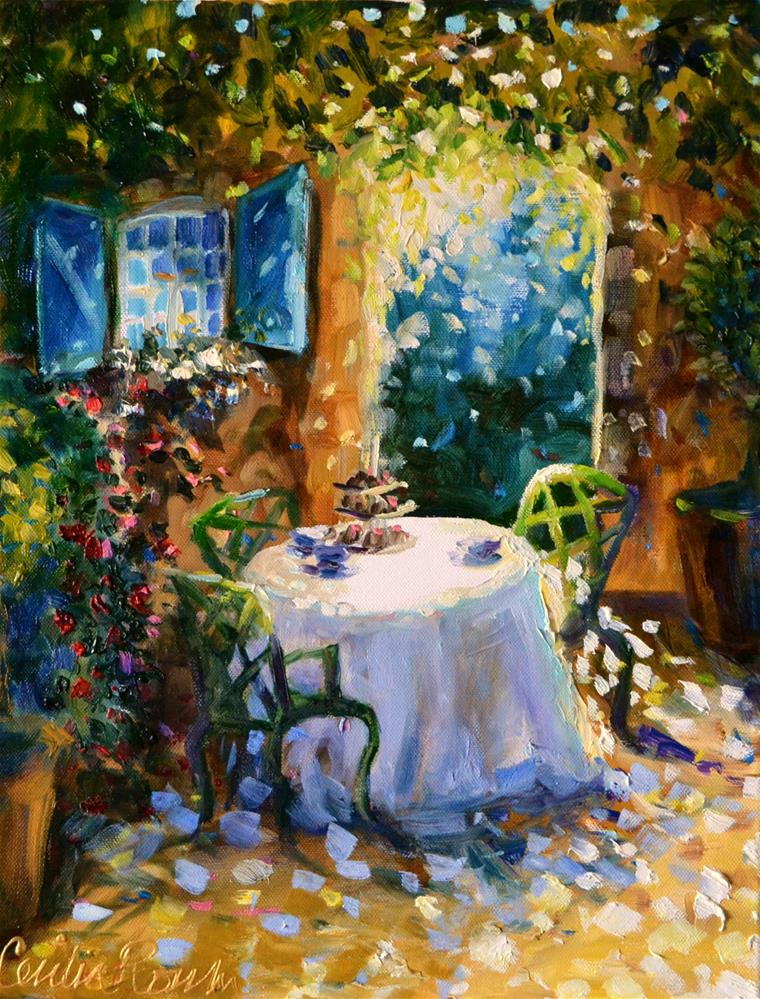 """SECRET GARDEN"" original fine art by Cecilia Rosslee"