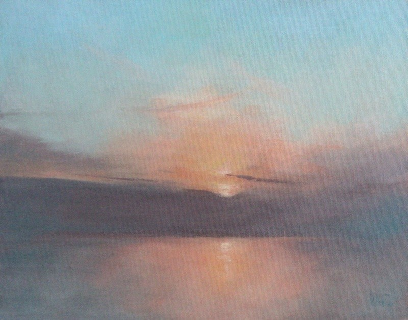 """Sunset"" original fine art by Thorgrimur Andri Einarsson"