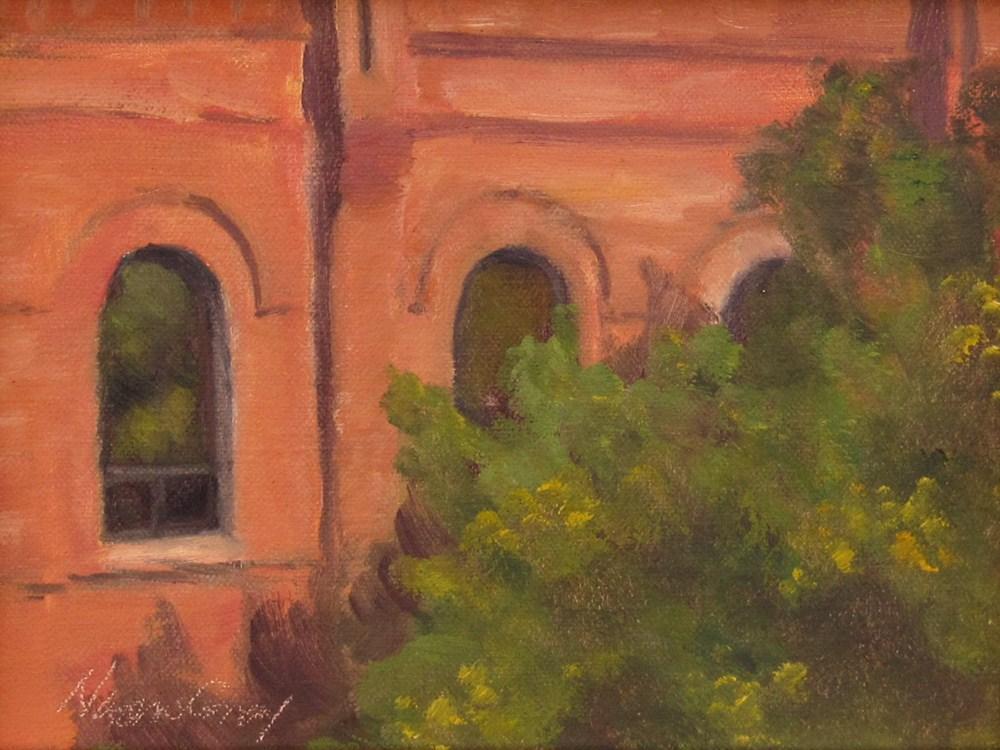 """Green Window"" original fine art by Naomi Gray"