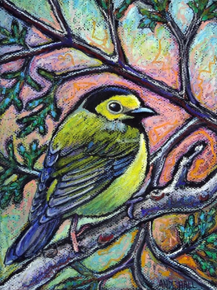 """Hooded Warbler"" original fine art by Ande Hall"