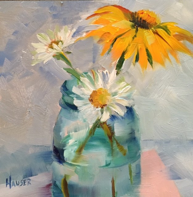 """A Not So Pink Coneflower"" original fine art by Alice Hauser"