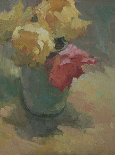 """One Pink Rose"" original fine art by Kathryn Townsend"