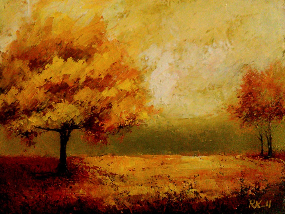 """Autumn in the Park"" original fine art by Bob Kimball"