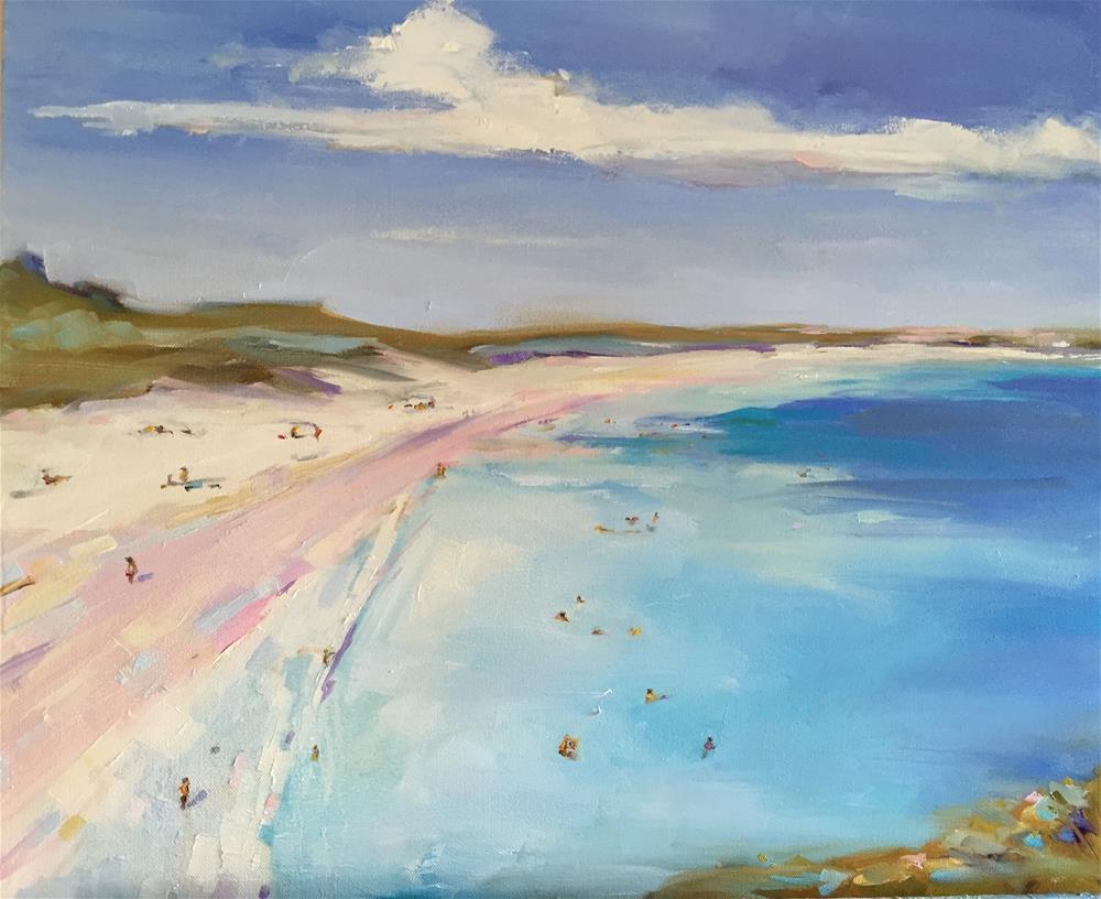 """Over the Beach"" original fine art by Kathleen Broaderick"