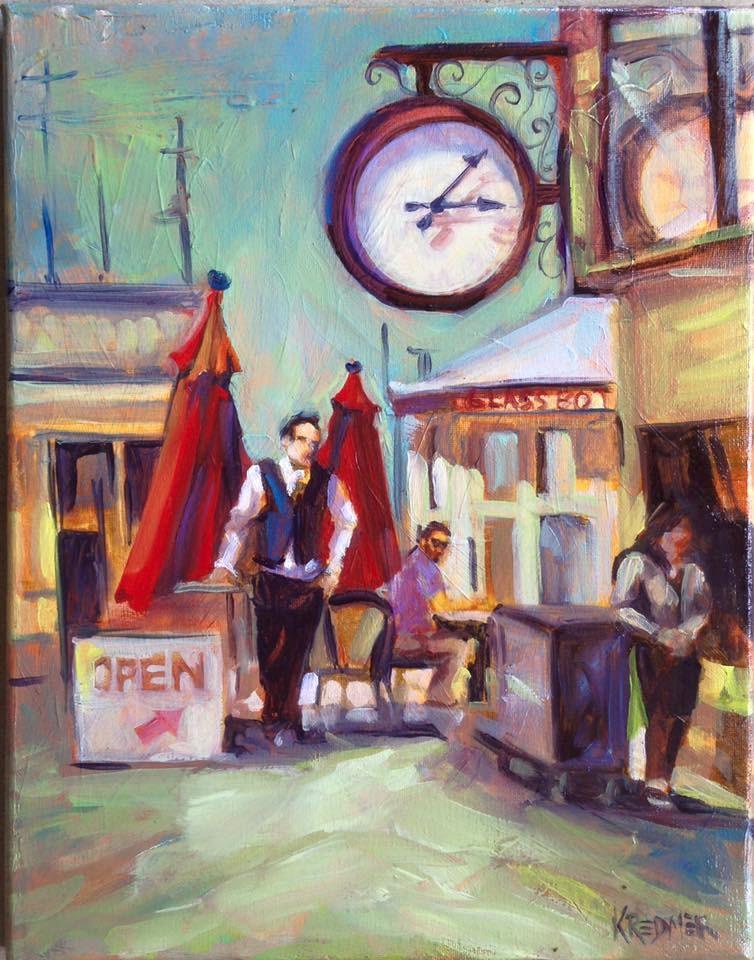 """""""Waiting"""" original fine art by Kathleen Redmer"""