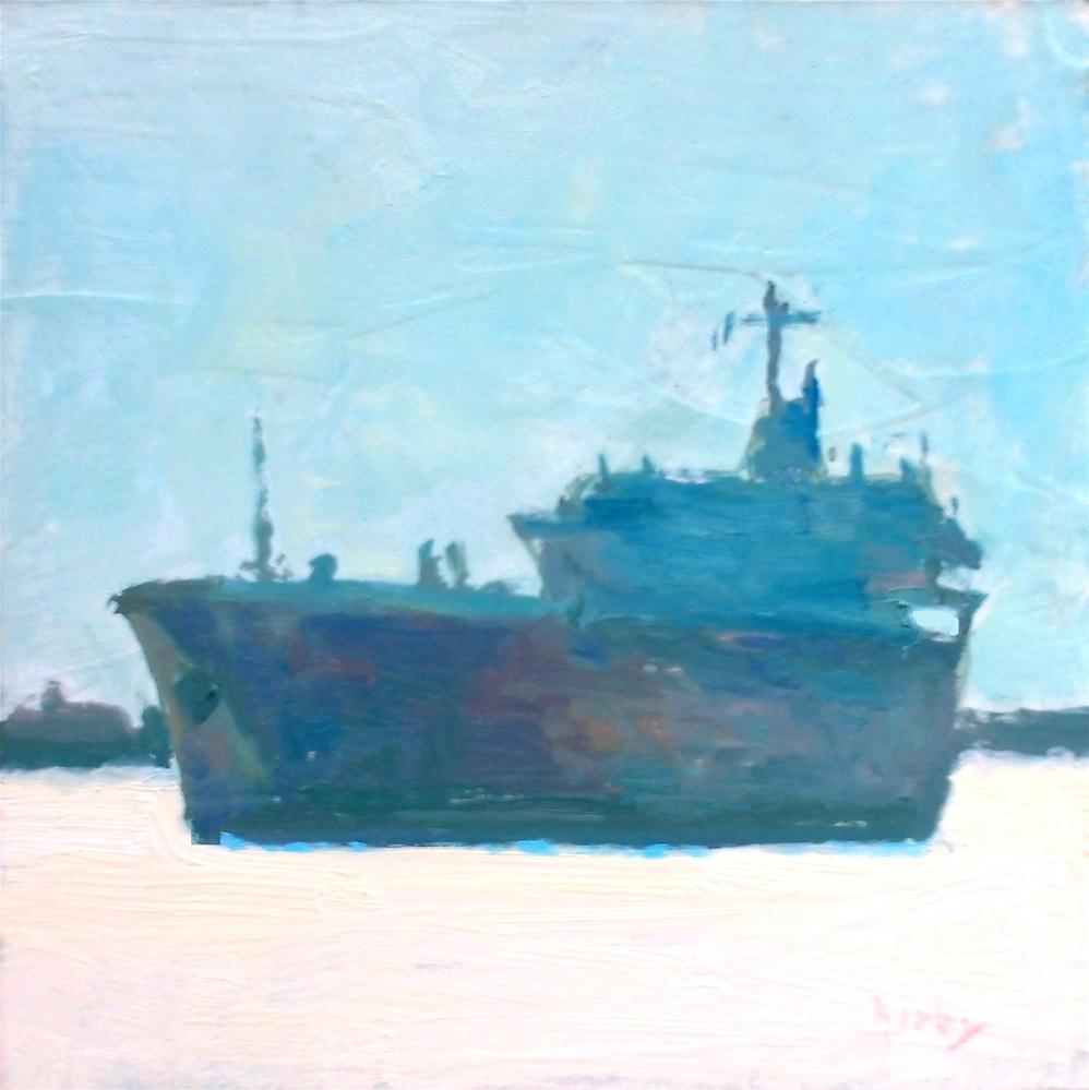 """Tanker"" original fine art by Randall Cogburn"