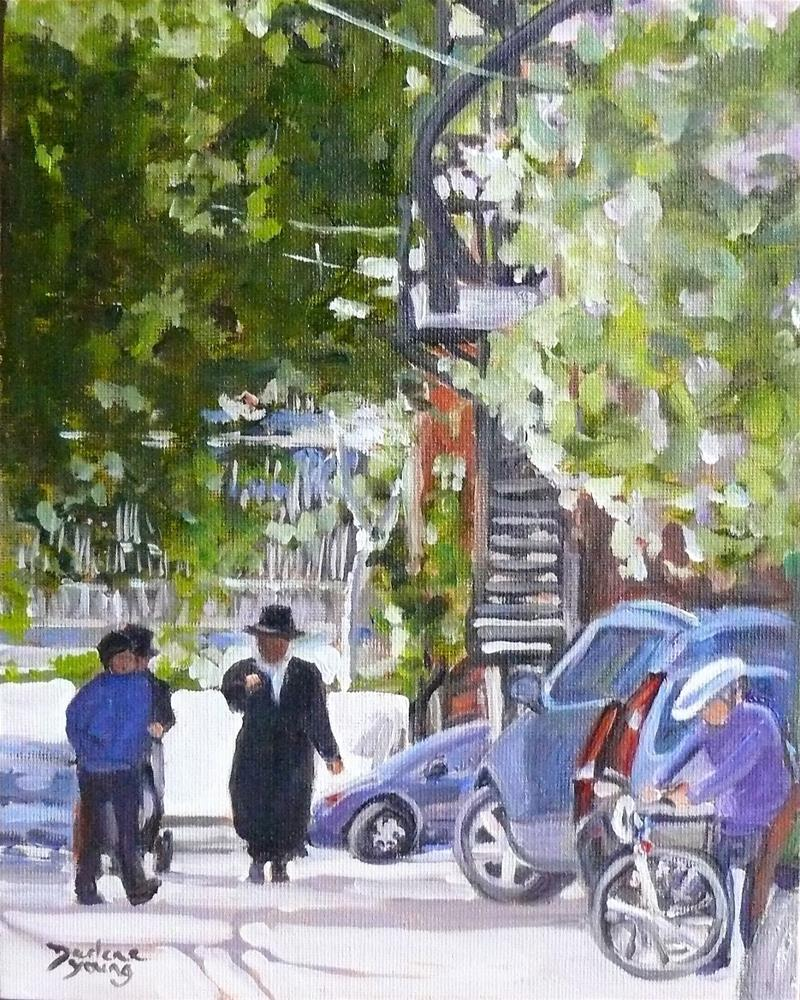 """967 Outremont, 8x10, oil on board"" original fine art by Darlene Young"