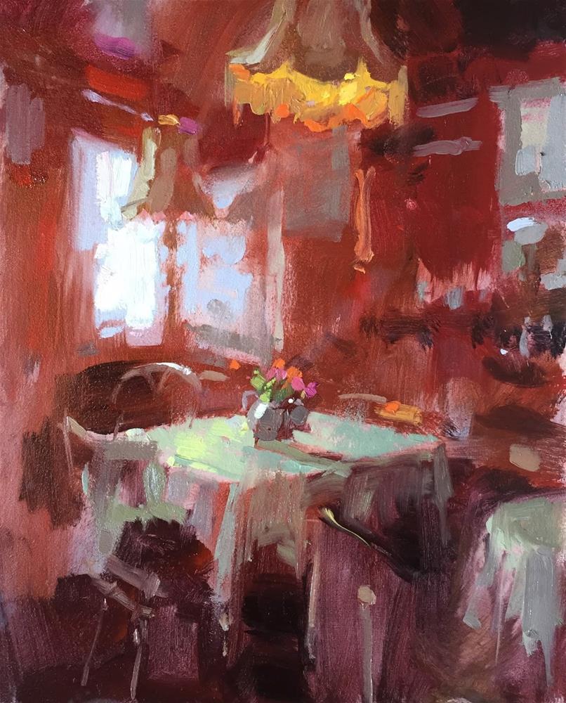 """""""Dottys tearoom"""" original fine art by Haidee-Jo Summers"""