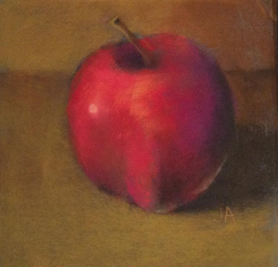 """Don't Sit Under the Apple Tree"" original fine art by Judy Albright"
