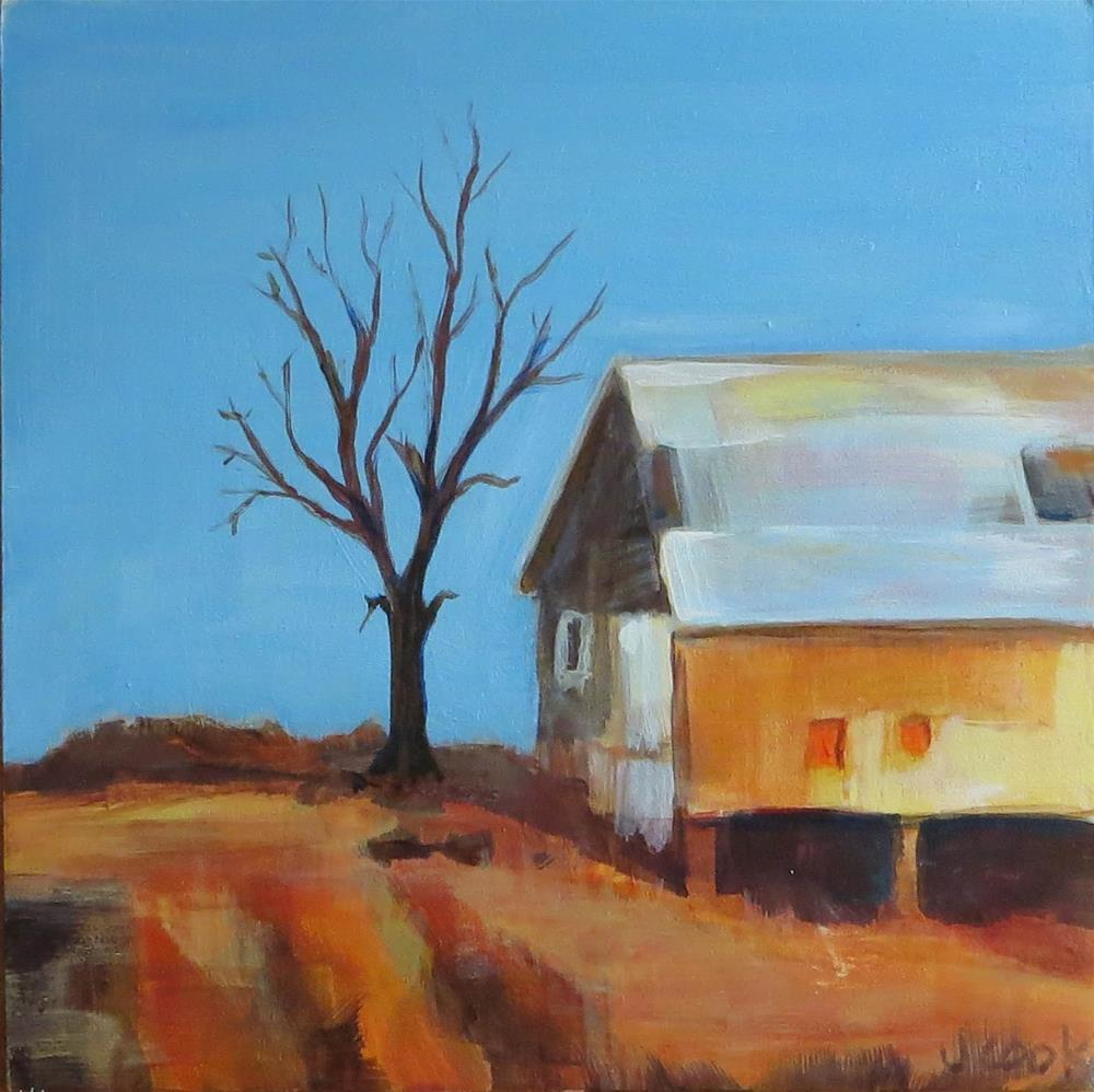 """Country Barn"" original fine art by Janice Cook"