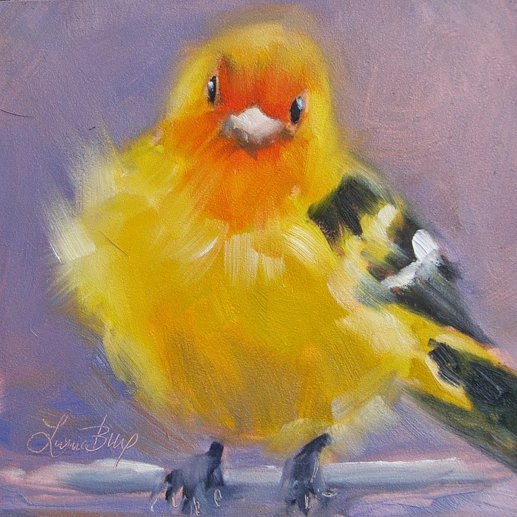"""Chickie -346"" original fine art by Laura  Buxo"